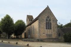 Eglise - Deutsch: Kirche Saint-Hilaire in Asnières-sur-Vègre im Département Sarthe (Pays de la Loire/Frankreich)