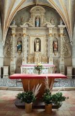 Eglise Saint-Martin-de-Tours - Français:   Retable et tabernacle du maître-autel de l\'église Saint-Martin - Courgenard, Sarthe