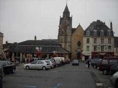 Eglise Saint-Nicolas - English: Carnot Square, in Mamers, Sarthe, France.