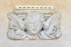 Anicenne abbaye Saint-Vincent, actuellement lycée Bellevue - Escalier central de l'Abbaye Saint-Vincent, actuel lycée Bellevue - Le Mans, Sarthe