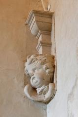 Anicenne abbaye Saint-Vincent, actuellement lycée Bellevue - Salle des piliers de l'Abbaye Saint-Vincent, actuel lycée Bellevue - Le Mans, Sarthe
