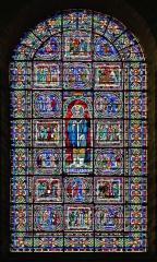 Cathédrale Saint-Julien - Français:   Vitrail représentant Saint Julien - Cathédrale Saint-Julien - Le Mans (Sarthe)
