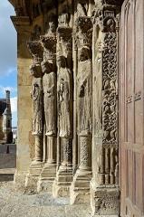 Cathédrale Saint-Julien - Français:   Statues colonnes du portail sud (ca. 1150) de la Cathédrale Saint-Julien - Le Mans (Sarthe)