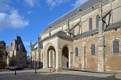 Cathédrale Saint-Julien - Français:   Porche du portail sud de la Cathédrale Saint-Julien - Le Mans (Sarthe)