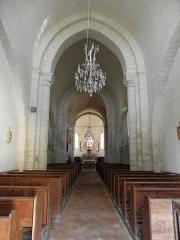 Eglise - Français:   Église Saint-Laurent de Neuvy-en-Champagne (72). Nef.