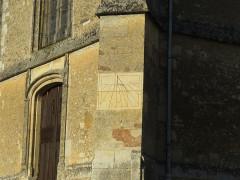Eglise - Français:   Cadran solaire