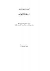 Prieuré bénédictin Sainte-Marie-Madeleine - Italiano: Versione in pdf del volume Algebra 1 VI edizione
