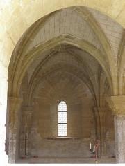 Ancienne celle grandmontaine de Chassay-Grammont, actuellement dénommée prieuré de Chassay-Grammont - Prieuré de Chassay-Grammont en Saint-Prouant (85). Salle capitulaire.