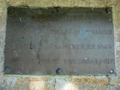 Chapelle Saint-Georges-de-Bouillé - Français:   Portail de la chapelle Saint-Georges de Bouillé, Jardin des plantes d\'Avranches