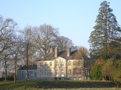 Château -  Carantilly (Normandie, France). Le château.