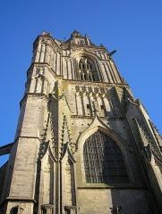 Eglise Saint-Pierre -  Coutances (Normandie, France). Clocher de l'église Saint-Pierre.