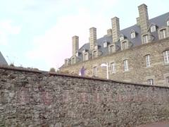 Casernes du Roc - English: Building of the barracks Roc Granville.