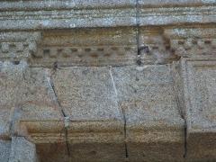 Eglise Notre-Dame - Français:   Granville - Inscription au dessus du portail de l\'église ND du cap Lihou