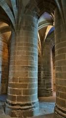 Abbaye et dépendances - Crypte des Gros Piliers, Abbaye du Mont Saint Michel