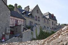 Ancien presbytère - English: Former presbytery at Mont-Saint-Michel in the department of Manche in France. The house is listed as a historical monument by the French Ministry of Culture.