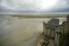 Remparts, enceinte de la ville et ses dépendances -  Bastillon de la Tour Boucle au Mont-Saint-Michel (50).