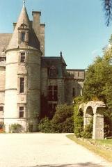 Domaine du château de Tourlaville (également sur commune de La Glacerie) -  Vue d'une parite de la façade du Château des Ravalet à Tourlaville