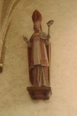 Eglise Saint-Pierre - statue ploychromé du XVIIIe, Église Saint-Pierre de fr:Vesly (Manche)