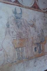 Eglise Saint-Pierre - Église Saint-Pierre du Mesnil-Aubert église du XIIIe siècle, en grande partie romane avec de remarquables peintures murales