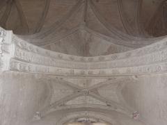 Chapelle Notre-Dame-de-Pitié - Français:   Chapelle Notre-Dame-de-Pitide Longny-au-Perche (61). Intérieur. Voûte de la chapelle septentrionale. .