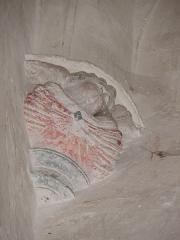 Chapelle Notre-Dame-de-Pitié - Chapelle Notre-Dame-de-Pitié de Longny-au-Perche (61). Intérieur. Culot à la base de la voûte de la chapelle septentrionale.