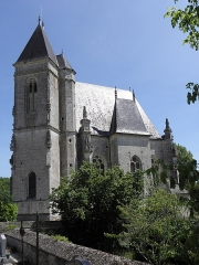 Chapelle Notre-Dame-de-Pitié - Français:   Chapelle Notre-Dame-de-Pitié de Longny-au-Perche (61). Extérieur. Tour-clocher et flanc sud.