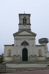 Eglise - L'église Notre-Dame-de-l'Assomption au Mêle-sur-Sarthe (Orne, Normandie, France).