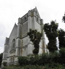 Eglise Saint-Germain-de-Loisé - Français:   Église Saint-Germain de Loisé à Mortagne-au-Perche (61). Façade occidentale et tour-clocher.