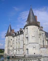 Château d'O -  Mortrée (Normandie, France). Façade ouest du château d'Ô.