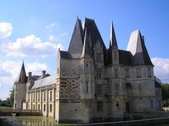 Château d'O -  Mortrée (Normandie, France). Façades sud et est du château d'Ô.
