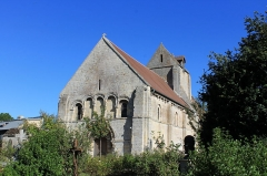 Eglise Saint-Martin - Façade occidentale de l'église Saint-Martin de Colombelles (Calvados)