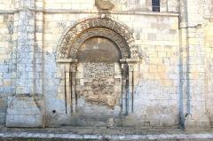 Eglise Saint-Martin - Portail nord muré de l'église Saint-Martin de Colombelles (Calvados)