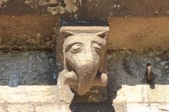 Eglise Saint-Martin - Modillon de l'église Saint-Martin de Colombelles (Calvados) Représentation d'un éléphant.