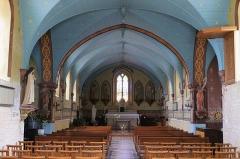 Eglise - Français:   Nef de l\'église Saint-Jacques de Cresserons (Calvados)