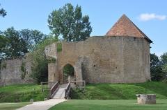 Ancien manoir - English: Castle of Crèvecoeur-en-Auge (France, Normandy)