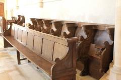 Eglise - Français:   Stalles de l\'église Saint-Pierre à Ellon (Calvados)