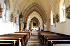 Eglise - Français:   Nef de l\'église Saint-Pierre à Ellon (Calvados)
