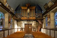 Chapelle Notre-Dame-de-Grâce - English: Pipe organ of Notre-Dame-de-Grâce chapel in Équemauville, Normandy, France.