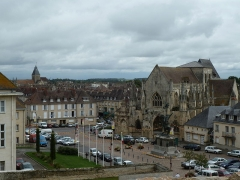 Place Guillaume-le-Conquérant - Deutsch: Falaise, Place Guillaume le Conquérant, Kirche Sainte-Trinite, Calvados