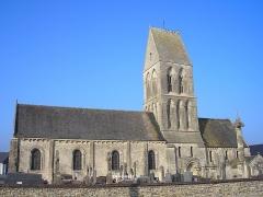 Eglise - Français:   Formigny (Normandie, France). L\'église Saint-Martin.