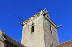 Eglise Saint-Clair - Français:   Cadran solaire sur la face sud du clocher de l\'église Saint-Clair d\'Hérouville-Saint-Clair (Calvados)