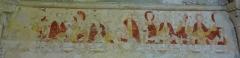 Ancienne église de Sainte-Marie-aux-Anglais - Église Sainte-Marie de Sainte-Marie-aux-Anglais, peinture murale du XIIIe siècle représentant la Cène