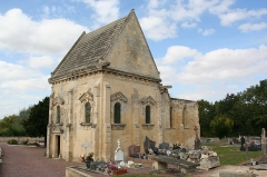 Eglise de Saint-Manvieu - This building is indexed in the Base Mérimée, a database of architectural heritage maintained by the French Ministry of Culture,under the reference PA00111692 .