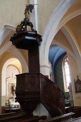 Ancien prieuré - Français:   Église Saint-Laurent d\'Arnay-le-Duc (21). Intérieur. Chaire.