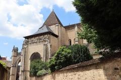 Eglise Notre-Dame et son presbytère - Extérieur de la basilique Notre-Dame de Beaune (21). Flanc sud de la nef.