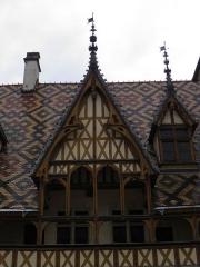 Hôtel-Dieu ou Hospices civils de Beaune - Cour des hospices de Beaune (Côte-d'Or, France).