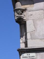 Maison - Français:   Niche à l\'angle de la rue Rousseau Deslandes et d\'une rue inconnue, Beaune, France
