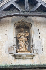 Chapelle Saint-Claude - English: Detail of the front facade of Saint Claude Chapel, located in Brain, Côte d'Or, France. Monument historique.