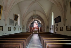 Eglise - Nederlands: Chambolle-Musigny (departement Côte-d'Or, Frankrijk): interieur van de Sint-Barbara- en Sint-Sebastianuskerk