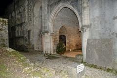 Ancienne abbatiale Saint-Pierre de Flavigny - Entrée de l'abbaye Saint-Pierre de Flavigny-sur-Ozerain (Côte d'Or, Bourgogne-Franche-Comté, France).